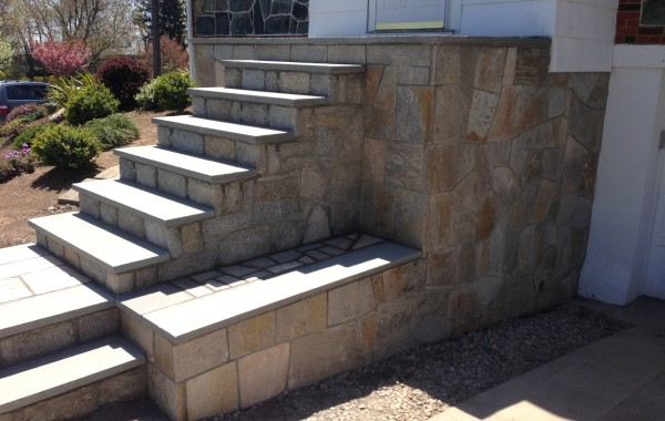 Custom Stone Porch and Stairs